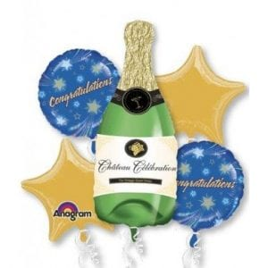 BALLOON BOUQUET KIT CHAMPAGNE BOTTLE