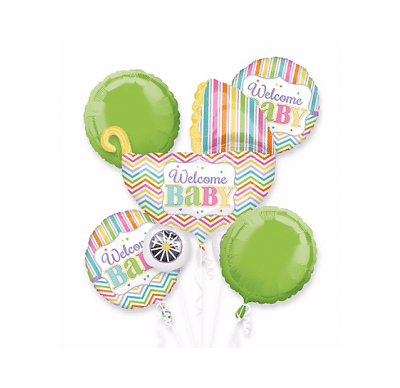 BALLOON BOUQUET KIT WELCOME BABY BRIGHT