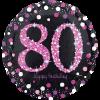 80th Birthday Foil Pink