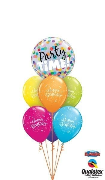 Birthday Time Party Time Melbourne Helium Balloon Bouquets