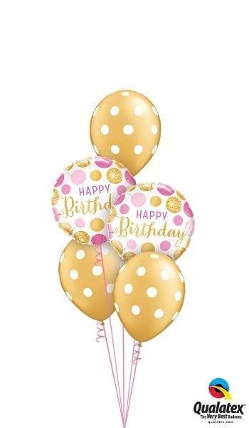 Gold & Pink Birthday Polka Dots